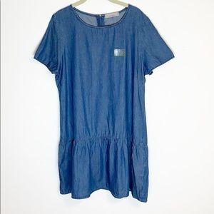 NEWDorothy Perkins Chambray Drop Waist Tunic Dress